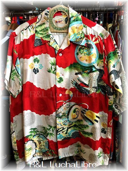 M品番 アロハシャツ シルク 100%